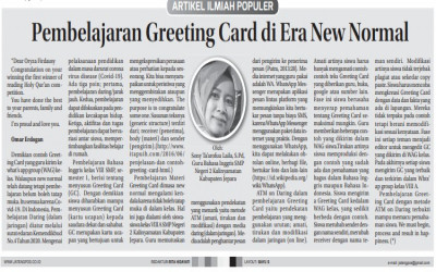 Pembelajaran Greeting Card di Era New Normal